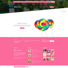 my confetti kids party planner html template by createit pl