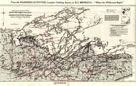 Listening Map Bwca Snf U0026 Quetico Canoe Routes Map 1929 Boundary Waters