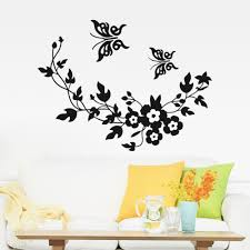 Butterfly 3d Wall Art by Butterfly Flowers Wall Sticker For Kids Room Bedroom Living Room
