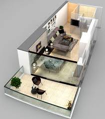 Tiny Apartment Floor Plans Stylish Two Floor Studio Apartment With A Private Terrace