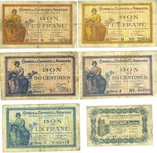 chambre de commerce narbonne banknotes emergency notes lot de 6 billets narbonne chambre