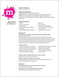 graphic artist sample resume graphic design resume example with