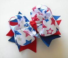 fourth of july hair bows patriotic boutique layered hair bow hair bows july 4th