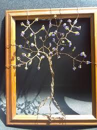 non tarnish wire tree of handmade beaded wire wall