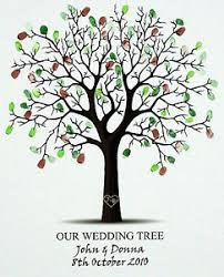 tree signing for wedding personalised fingerprint wedding tree signing board guest book