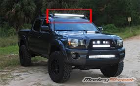 2017 tacoma light bar for 2005 2015 toyota tacoma roof rack 40 curved led light bar