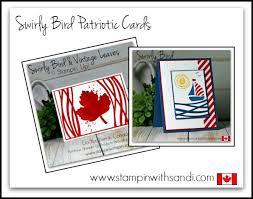 stin up swirly bird patriotic cards