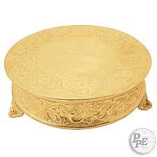 cake plateau 22 gold plated cake plateau