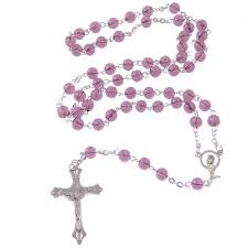 purple rosary rosary in purple colour
