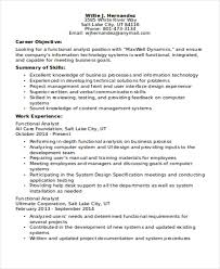 Resume Template It Functional Cv Template It Functional Resume Sample It Functional