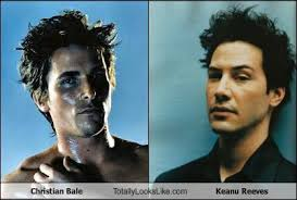 Christian Bale Meme - christian bale totally looks like keanu reeves cheezburger funny