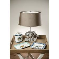enrique elephant table lamp with shade cotterell u0026 co online