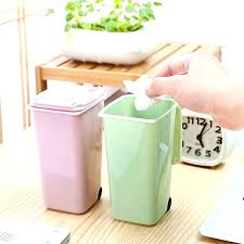 mini desk trash can tiny trash can desk multi colors plastic desktop garbage cleaning