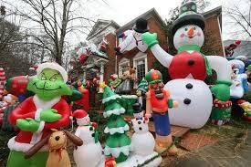 christmas yard creative christmas yard inflatables amazing preparing for