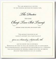 wedding invitation quotes wedding invitation quotes sles for real sarcasm