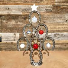 horseshoe christmas tree mini rustic horseshoe christmas tree with and ornaments