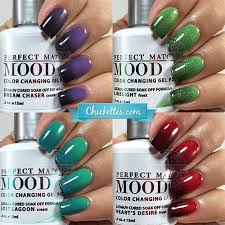 perfect match colors lechat perfect match mood gel polish swatches chickettes