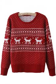 tacky reindeer striped womens pullover sweater