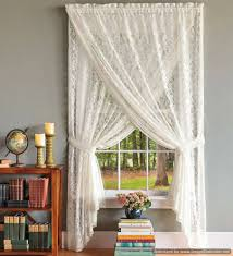 semi sheer white lace curtains decorative lace curtains