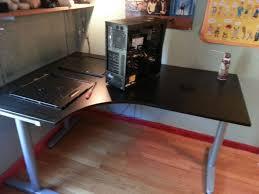 l shaped desk gaming setup projects idea gaming corner desk collection in setup alluring