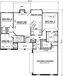 House Plans With Game Room Traditional Style House Plans 1366 Square Foot Home 1 Story 3