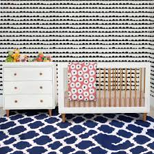 White Convertible Crib Sets by Babyletto 2 Piece Nursery Set Lolly 3 In 1 Convertible Crib And