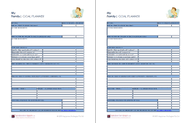 Financial Planning Worksheet Financial Goals Template