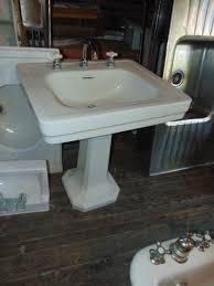 Porcelain Pedestal Sink Antique Bathroom Sinks