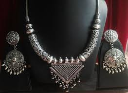 silver jewellery necklace sets images German silver gs 52 silver jewelry necklace set rs 750 piece jpg