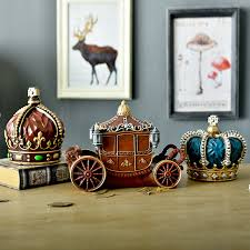 Imperial Home Decor European Style Creative Gifts Resin Imperial Crown Carriage