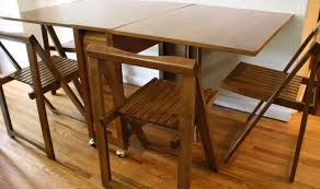table valuable folding table and chairs for small spaces