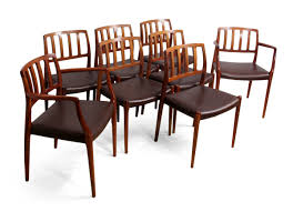 vintage model 83 rosewood dining chairs by niel otto møller set