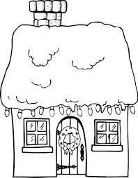 house christmas winter coloring page christmas coloring pages of