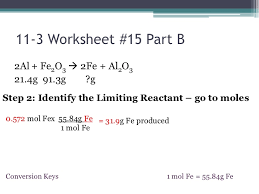 chemistry i honors stoichiometry limiting reactant