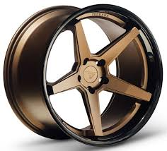 lexus bronze rims 20x10 5 ferrada fr3 matte bronze w gloss black lip wheels