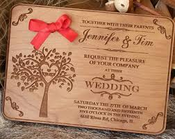 wood wedding invitations real wood wedding invitations your design printed on wood