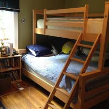 Ethan Allen Solid Wood Bunk Bed Full Size Bottom Twin Top EBay - Ethan allen bunk bed