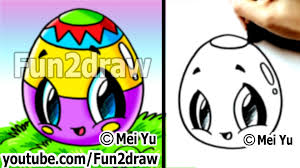 kawaii easy cute things to draw for beginners easter egg fun