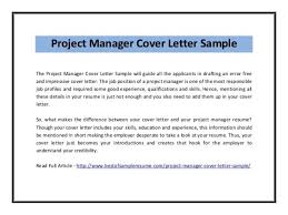 program manager cover letter example 16 collection of solutions