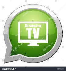 Green Tv Seen On Tv Button Stock Vector 539518042 Shutterstock