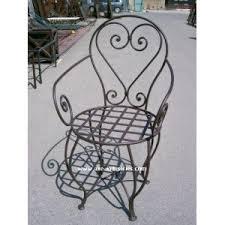 chaises en fer forgé chaise fer forgé casablanca coussin compris chaises en fer
