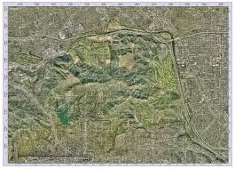 griffith park map griffith park wildlife study field maps for trap placement