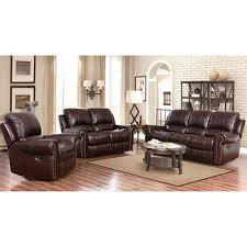 Brown Leather Reclining Sofa by Abbyson Living Berkshire 3 Pc Leather Reclining Furniture Set