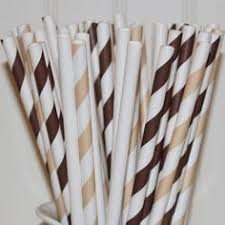 gray striped paper straws thanksgiving planning