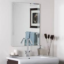 bathroom frameless mirrors frameless mirrors bellacor