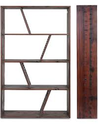 Reclaimed Wood Bookshelf Designer Reclaimed Wood Bookcase Shipwood Dark By Fashion For Home