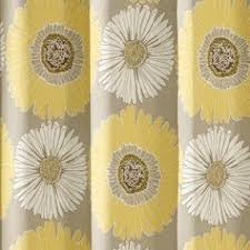 Yellow Flower Shower Curtain Floral Fabric Shower Curtain Foter