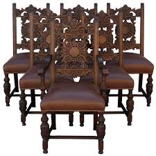 Spanish Colonial Dining Chairs Set Of Six 1920 U0027s Spanish Revival Chairs Spanish Revival