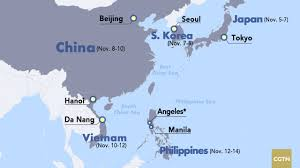 East China Sea Map 10 Days Five Countries What To Expect From Trump U0027s Asia Visit Cgtn