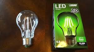 20 Watt Led Light Bulbs by Feit 4 5watt Green Filament Led Light Bulb Youtube